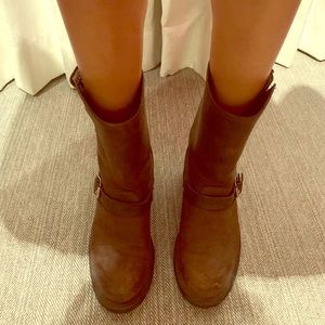 Mid calf leather Frye boots